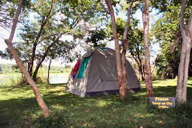 Camping at Ngepi camp