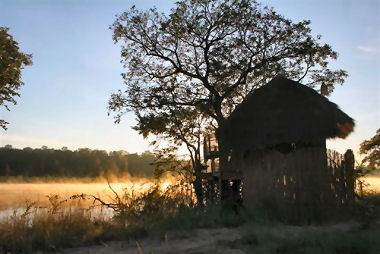 Huts at Negepi Camp Caprivi